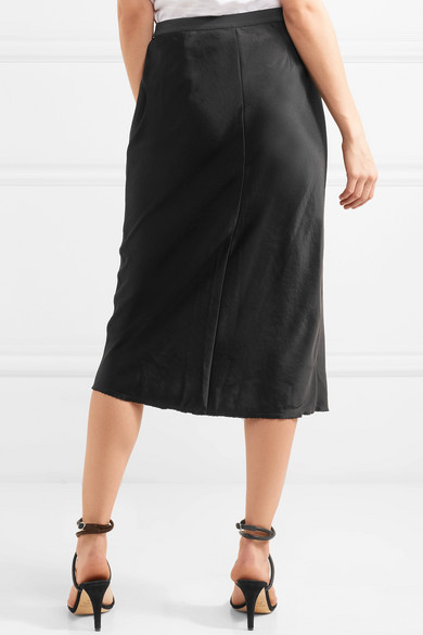 T By Alexander Wang Midi Rock From Satin