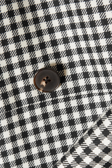 McQ Alexander McQueen Jacke aus Woll-Twill mit Gingham-Karo und Gürtel Niedrigster Preis Verkauf Online Äußerst 2018 Neue t1DjeaCCnY