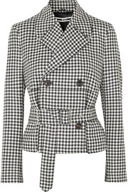 McQ Alexander McQueen Belted gingham wool-twill jacket