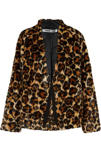 McQ Alexander McQueen   Manteau en fourrure synthétique à imprimé léopard    NET-A-PORTER.COM 68f81ea9651