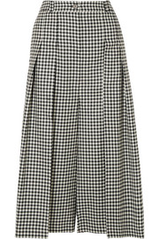 McQ Alexander McQueen Atami pleated gingham wool-twill wide-leg pants