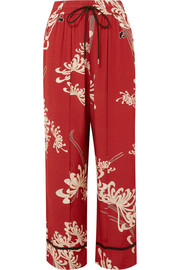 McQ Alexander McQueen Printed crepe de chine track pants