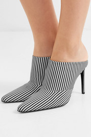 Davidson striped canvas mules