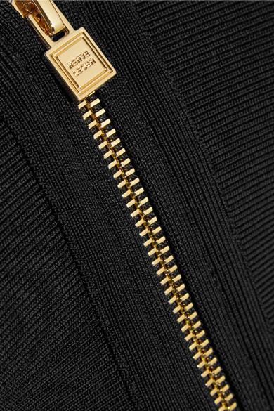 Hervé Léger Jacke aus Bandage mit Schößchen Bestellen Günstig Online Günstige Angebote Verkauf Rabatte F1X6w