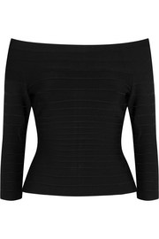 Hervé Léger Off-the-shoulder bandage top
