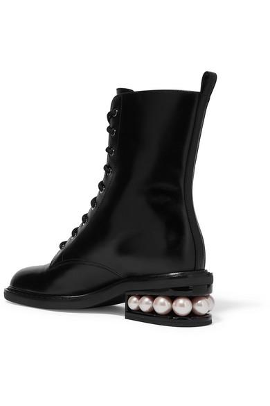 Nicholas Kirkwood Casati verzierte Stiefel aus Leder