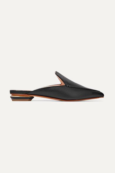 Beya Textured-leather Slippers - Black Nicholas Kirkwood u9KPAcgefg