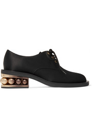 Casati embellished satin-drill brogues