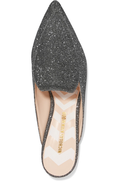 Shop-Angebot Günstig Online Nicholas Kirkwood Beya Slippers aus Metallic-Mesh Outlet Brandneue Unisex 9vPJllC
