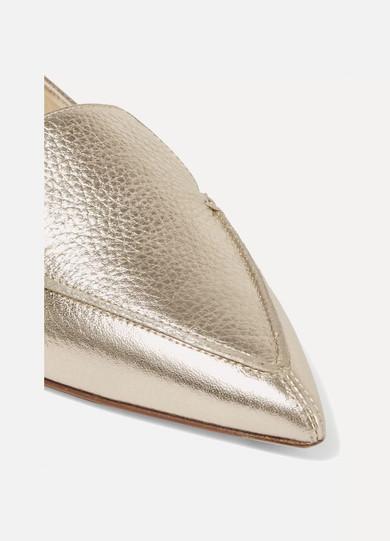 Nicholas Kirkwood | spitzer Beya flache Schuhe mit spitzer | Kappe aus strukturiertem Metallic-Leder c5a17b