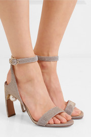 Lola embellished Lurex sandals