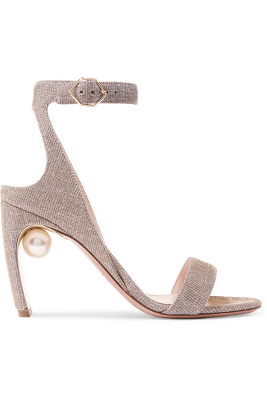 Nicholas Kirkwood Lola Studded Sandals From Lurex®