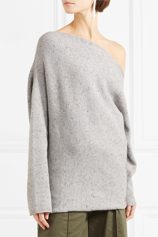 Narciso Rodriguez Pullover aus einer Woll-Kaschmirmischung mit asymmetrischer Schulterpartie