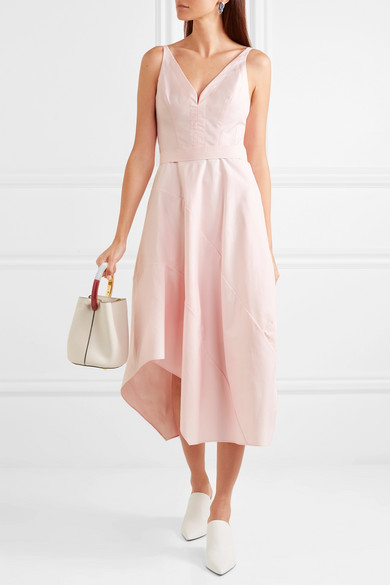 Narciso Rodriguez Asymmetric Midi Dress From A Cotton Blend
