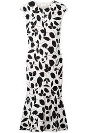 Narciso Rodriguez Printed silk-blend midi dress
