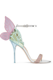 Chiara metallic leather sandals