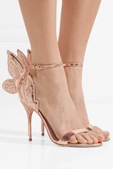 ed19cc83848 Sophia Webster | Chiara embroidered metallic leather sandals | NET-A ...