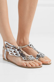 Sophia Webster Seraphina metallic leather sandals