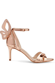 Madame Chiara metallic leather sandals