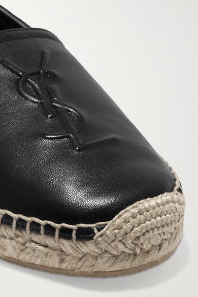 Günstig Kaufen Beliebt In Deutschland Verkauf Online Saint Laurent Espadrilles aus strukturiertem Leder mit Logoprägung MP8WoDdBCK