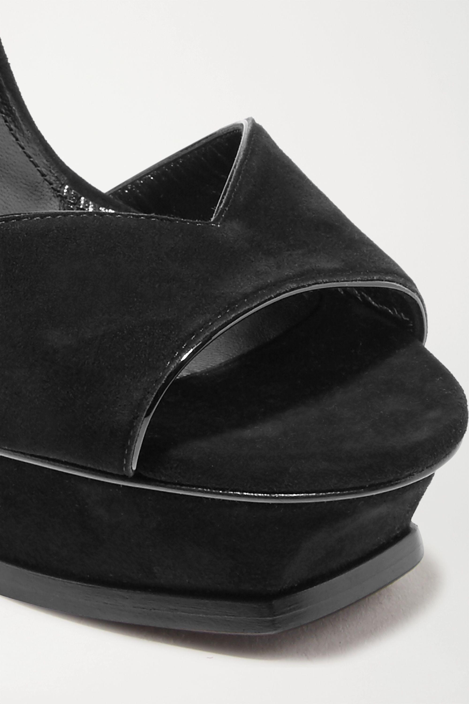 SAINT LAURENT Tribute suede platform sandals