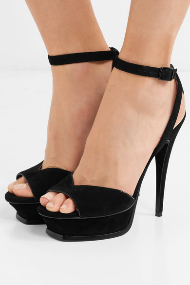 2c6b151b1c1 SAINT LAURENT | Tribute suede platform sandals | NET-A-PORTER.COM