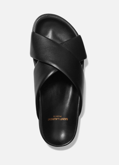 Saint Laurent Jimmy Pantoletten aus Leder