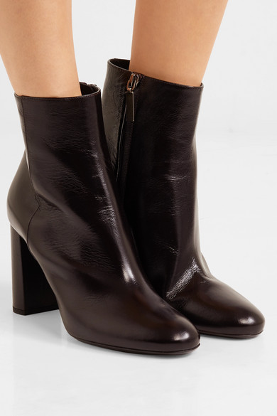Saint Laurent Loulou Ankle Boots Made Of Patent Leather