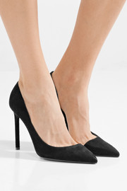 Saint Laurent Anja suede pumps