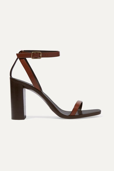 Saint Laurent 95MM LOU LOU LEATHER SANDALS