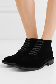 Saint Laurent William velvet ankle boots