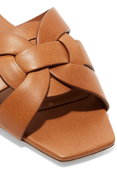 90e88a12fb8a Saint Laurent. Nu Pieds woven leather slides.  870. Zoom In