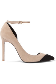 Saint Laurent Anja two-tone suede pumps