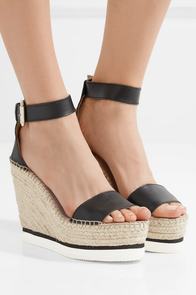 Porter By See Wedge Net A com Sandals ChloéLeather Espadrille rBCWoxed