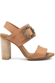 See by Chloé Crystal-embellished leather slingback sandals