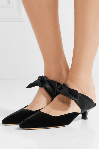 The Row | Samt Coco Mules aus Samt | und Satin 691c82