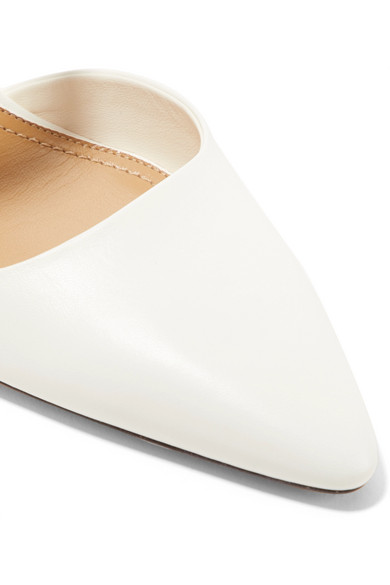The Row | Gala Twist Leder Mules aus Leder Twist 08de0a