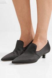 Gaia satin pumps