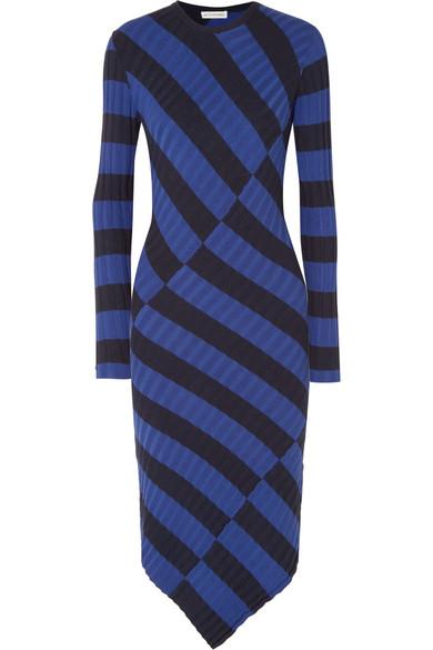 Altuzarra Whistler asymmetrisches Kleid aus gestreiftem Rippstrick