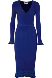 Isolde ribbed-knit midi dress