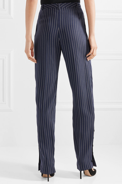 Buy Cheap Enjoy Lidig Pinstriped Ottoman Wide-leg Pants - Blue Altuzarra Discount Fashionable With Paypal For Sale Largest Supplier Cheap Price F1xdRIevVy