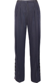 Lidig pinstriped ottoman wide-leg pants