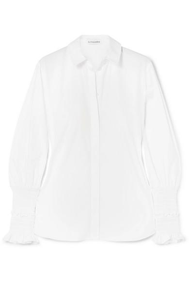 Altuzarra Jorda Hemd aus Baumwollpopeline mit eingenähten Raffungen