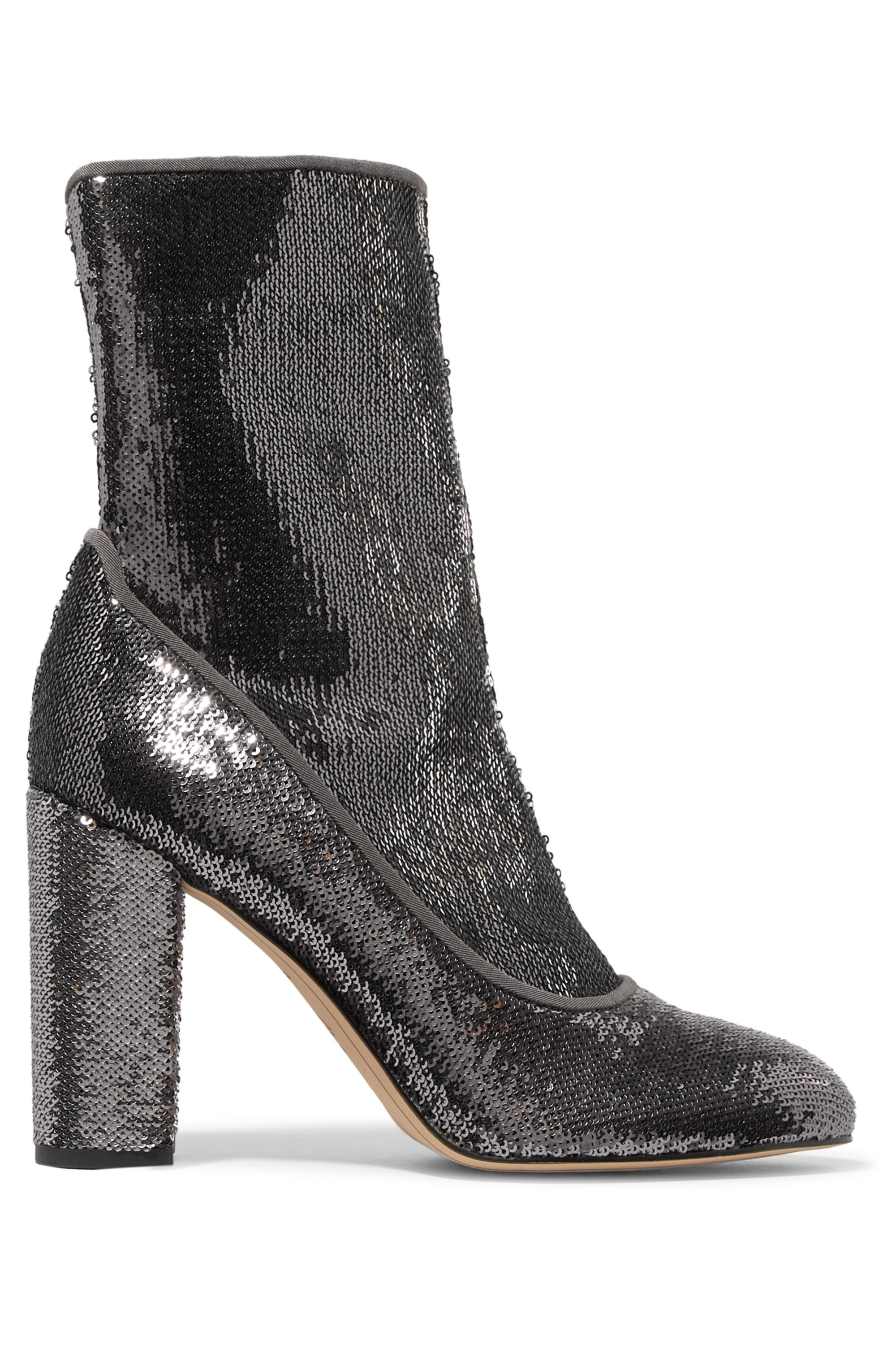 Sam Edelman Calexa sequined stretch-twill sock boots