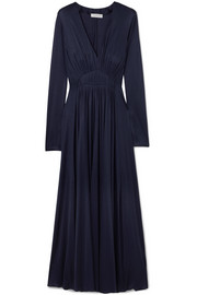 Gabriela Hearst Louise ruched silk-jersey midi dress