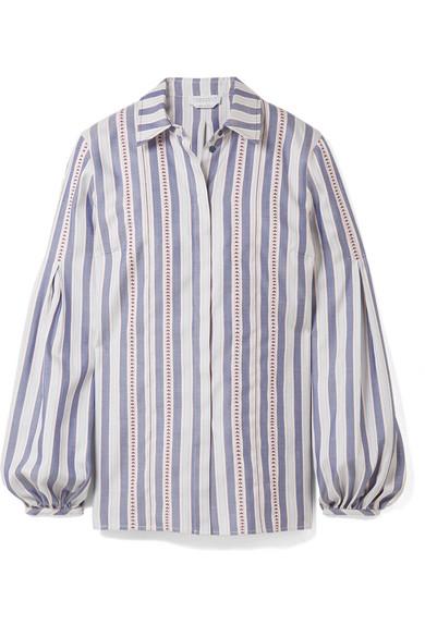 Gabriela Hearst Wight Hemd aus Seiden-Jacquard