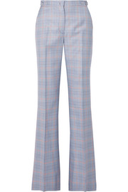 Gabriela Hearst Vesta checked wool and silk-blend straight-leg pants