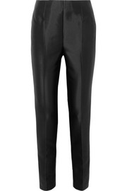 Masto silk and wool-blend faille slim-leg pants