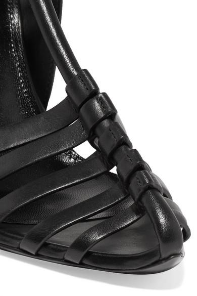 Saint Laurent Ines Sandalen aus Leder mit einklappbarer Fersenpartie