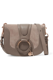 See by Chloé Hana mini suede and textured-leather shoulder bag